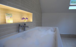 luxury  2 person bath